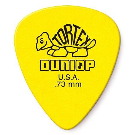 Palheta Dunlop 418R.73 Tortex Standard .73mm Yellow - 72 unidades