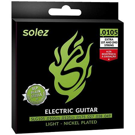 Encordoamento Guitarra Solez SLG105 0105-048 Light - 1ª e 2ª extra