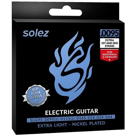 Encordoamento Guitarra Solez SLG95 0095-044 Extra Light - 1ª e 2ª extra