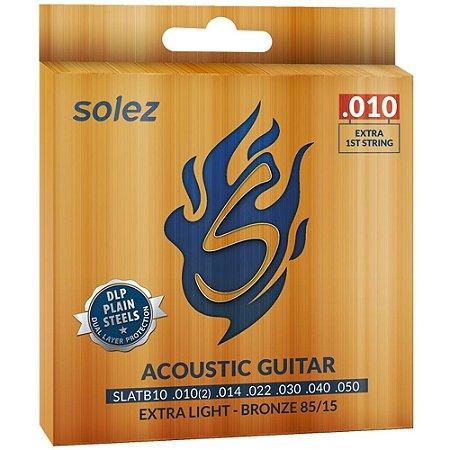 Encordoamento Violão Solez SLATB10 010-050 Extra Light Bronze 85/15 - 1ª extra