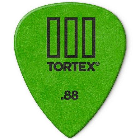 Palheta Dunlop 462R.88 Tortex III 0.88mm Verde - 72 unidades