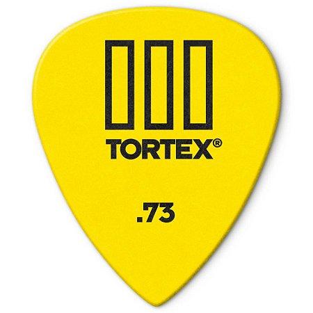 Palheta Dunlop 462R.73 Tortex III 0.73mm Amarela - 72 unidades