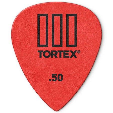 Palheta Dunlop 462R.50 Tortex III 0.50mm Vermelha - 72 unidades