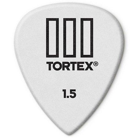 Palheta Dunlop 462R1.5 Tortex III 1.50mm Branca - 72 unidades