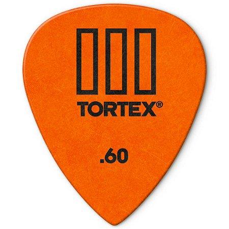 Palheta Dunlop 462-.60 Tortex III 0.60mm Laranja - unidade