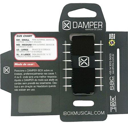 Abafador de Cordas Damper Ibox Comfort Large Preto DKLG20