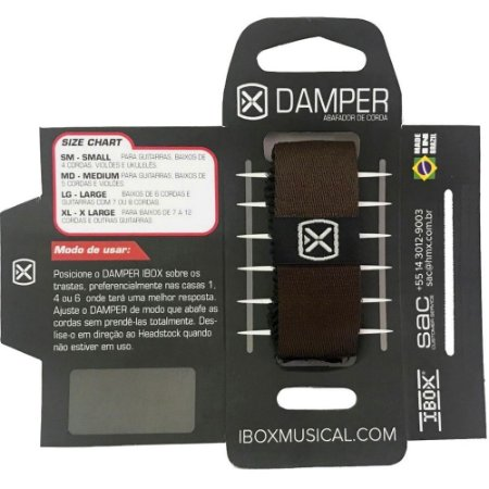 Abafador de Cordas Damper Ibox Comfort Small Marrom DKSM18