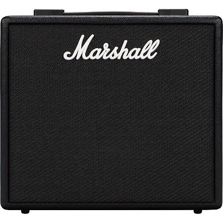 Amplificador Marshall Code 25 - combo para guitarra 25w 1x10 com efeitos