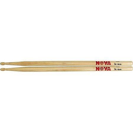 Baquetas Nova by Vic Firth 7A - ponta de madeira - par