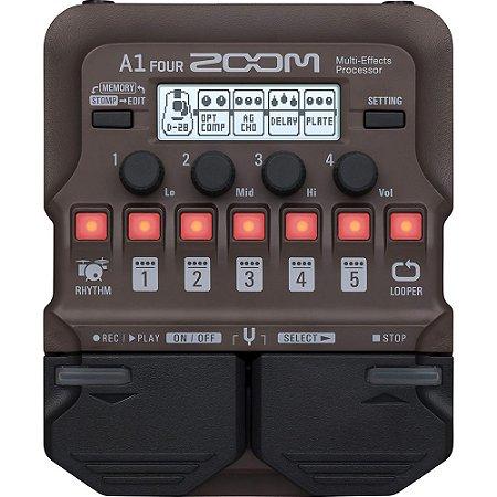 Pedaleira Zoom A1 Four para Instrumentos Acústicos