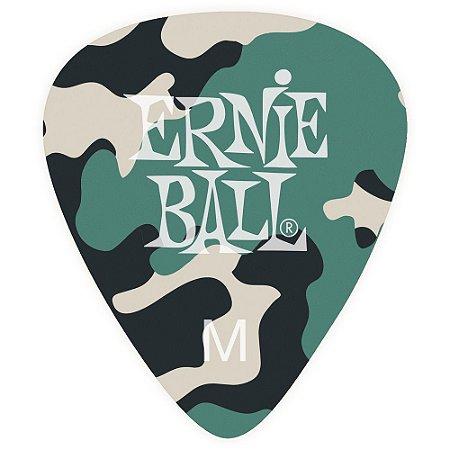 Palheta Ernie Ball 9222 Camuflada Média - Pacote com 12 un