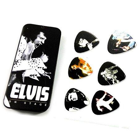 Palheta Dunlop EPPT07 Elvis Presley On Stage Medium - Lata com 6 un