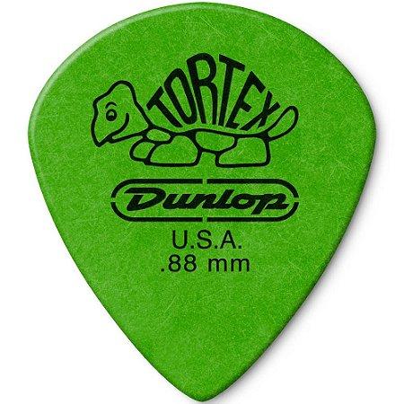 Palheta Dunlop 498 Tortex Jazz III XL 0.88mm Verde - Unidade