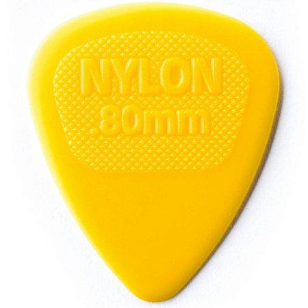 Palheta Dunlop 443 Nylon Midi 0.80mm Amarela - Unidade