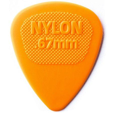 Palheta Dunlop 443 Nylon Midi 0.67mm Laranja - Unidade