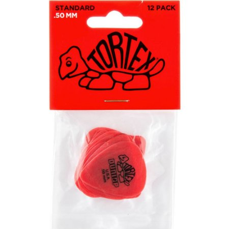 Palheta Dunlop 418P.50 Tortex Standard .50mm Vermelha - 12 unidades