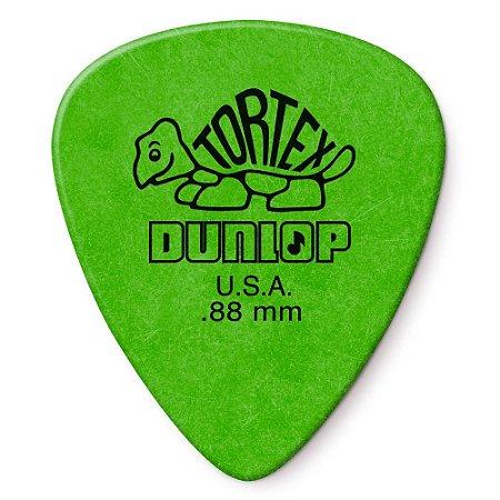Palheta Dunlop 418 Tortex Standard 0.88mm Verde - Unidade