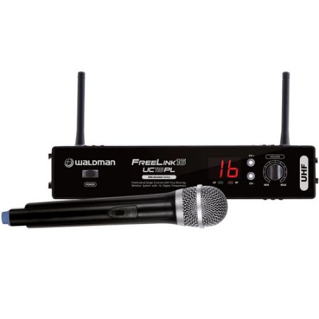 Microfone Sem Fio Waldman Bastão UHF Freelink UC 116PL
