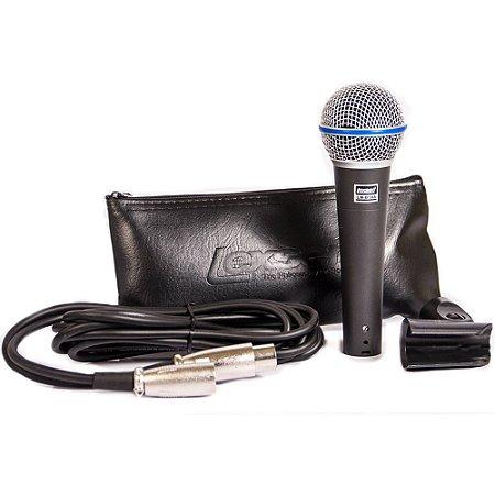 Microfone Dinâmico Supercardioide Lexsen LM-B58A - com cabo 3m