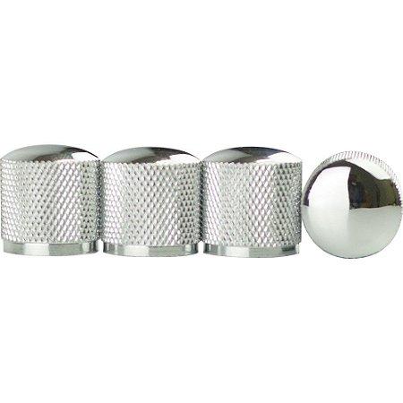 Knob De Metal Custom Sound Modelo MM 4 Peças Cromado - CKB 2 - CR