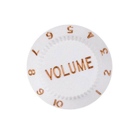 Knob Branco Volume Plástico para Guitarra Stratocaster - Unidade - Dolphin 1.7419