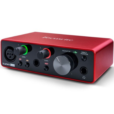 Interface de Audio Focusrite Scarlett Solo 3a Geração - para PC e Mac