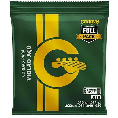 Encordoamento Violão Groove Full Package 010-050 GFP3