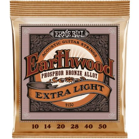 Encordoamento Violão Ernie Ball Earthwood 2150 010-050 - Phosphor Bronze Extra Light