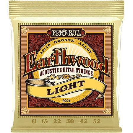 Encordoamento Violão Ernie Ball Earthwood 2004 011-052 - 80/20 Bronze Light