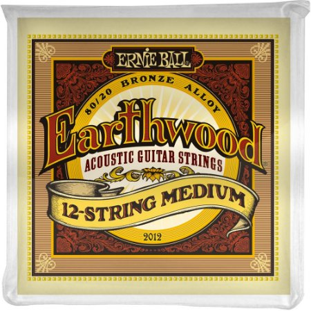 Encordoamento Violão 12 cordas Ernie Ball Earthwood 2012 011-052 - 80/20 Bronze Medium