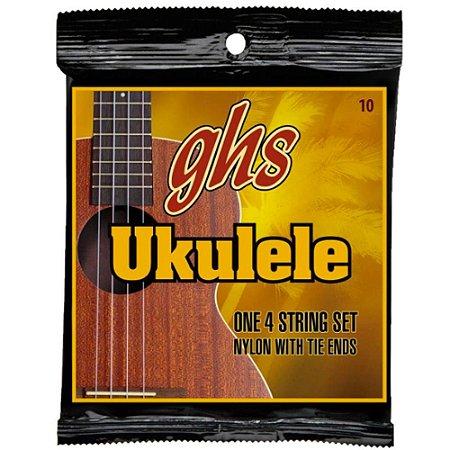 Encordoamento Ukulele GHS Set 10 Hawaiian D-Tuning Clear Nylon