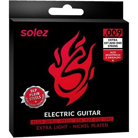 Encordoamento Guitarra Solez SLG9 009-042 Extra Light - 1ª e 2ª extra