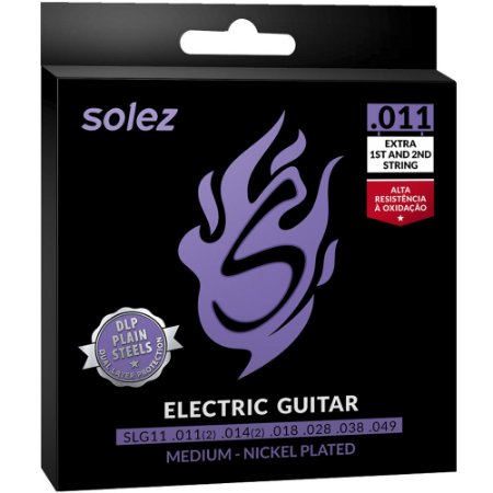 Encordoamento Guitarra Solez SLG11 011-049 Medium - 1ª e 2ª extra