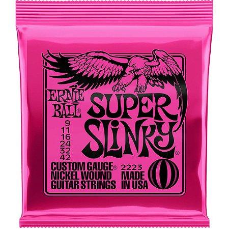 Encordoamento Guitarra Ernie Ball 2223 009-042 Super Slinky
