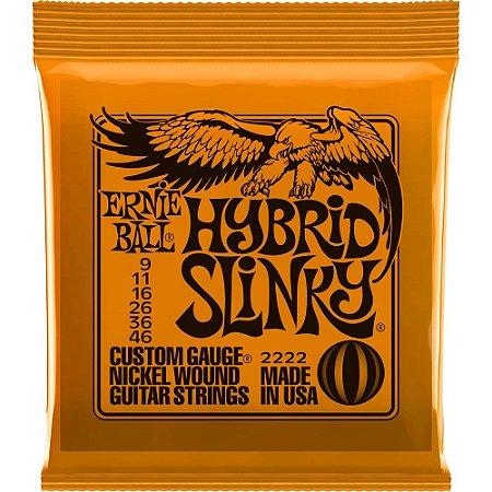Encordoamento Guitarra Ernie Ball 2222 009-046 Hybrid Slinky