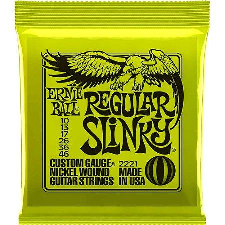 Encordoamento Guitarra Ernie Ball 2221 010-046 Regular Slinky