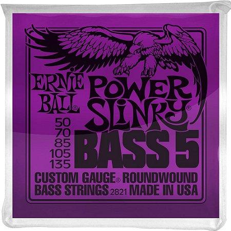 Encordoamento Baixo 5 cordas Ernie Ball 2821 050-135 Power Slinky Bass 5