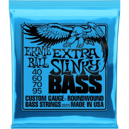 Encordoamento Baixo 4 Cordas Ernie Ball 2835 040-095 Extra Slinky