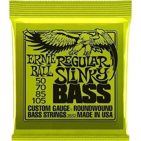 Encordoamento Baixo 4 cordas Ernie Ball 2832 050-105 Regular Slinky Bass