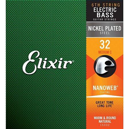 Corda 6a Baixo Dó Elixir .032 Nanoweb Long Scale 15332