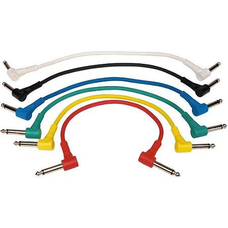 Cabo para pedal Rockcable RCL30011D5 - 6 cabos 15cm coloridos