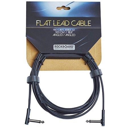 Cabo Rockboard 3,0M Flat Instrument Cable L - L RBO CAB FL 300BLK AA