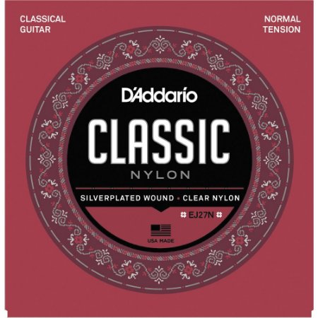 Encordoamento Violão Nylon D'Addario EJ27N Classic Nylon Tensão Normal