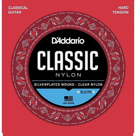 Encordoamento Violão Nylon D'Addario EJ27H Classic Nylon Tensão Pesada