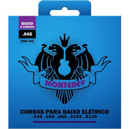 Encordoamento Baixo 5 Cordas Monterey 045-130 EMB545