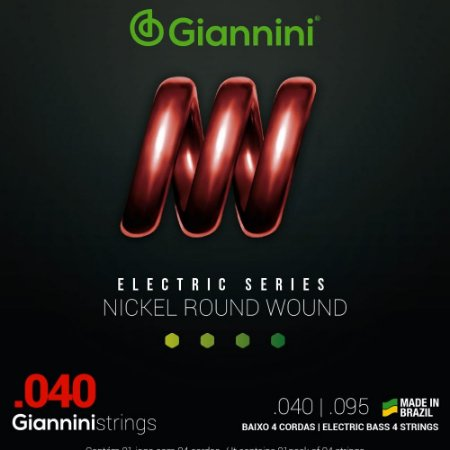 Encordoamento Baixo 4 cordas Giannini 040-095 GEEBRL