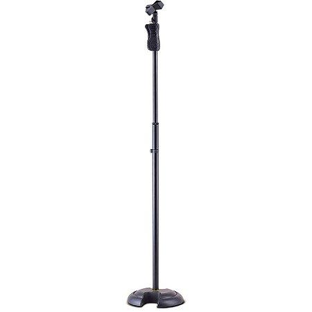 Pedestal para Microfone Hercules MS201B EZ GRIP Base H com EZ Mic Clip
