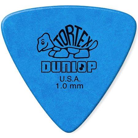 Palheta Dunlop 431R1.0 Tortex Triangles 1.0mm Azul - 72 unidades