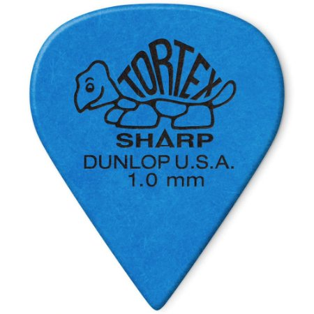 Palheta Dunlop 412R1.0 Tortex Sharp 1.00mm Azul - Pacote com 72 und