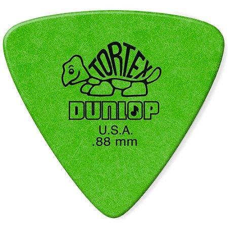 Palheta Dunlop 431 .88 Tortex Triangles 0.88mm Verde - unidade